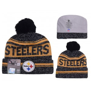 NFL Steelers Team Logo Gray Knit Hat YD