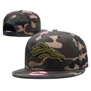 NFL Broncos Team Logo Camo Snapback Adjustable Hat GS
