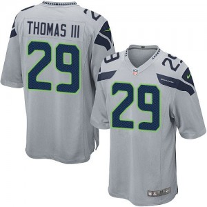 Nike Seattle Seahawks No.29 Earl Thomas Grey Game Jersey