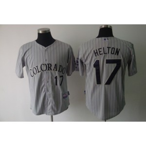 MLB Rockies 17 Todd Helton Grey Cool Base Men Jersey