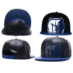 NBA Grizzlies Team Logo Black Reflective Snapback Adjustable Hat GS