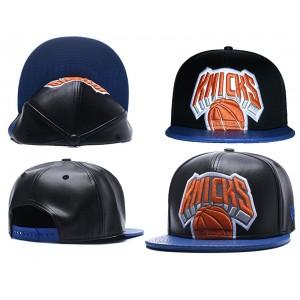 NBA Knicks Team Logo Black Reflective Snapback Adjustable Hat GS