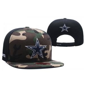 NFL Cowboys Team Logo Camo Snapback Adjustable Hat LT