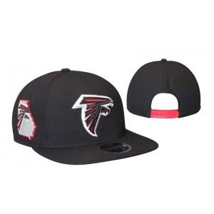NFL Falcons Team Logo Black Adjustable Hat LT