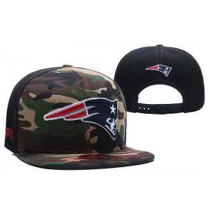 NFL Patriots Team Logo Camo Snapback Adjustable Hat LT