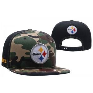NFL Steelers Team Logo Camo Snapback Adjustable Hat LT