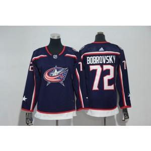 NHL Blue Jackets 72 Sergei Bobrovsky Navy Adidas Youth Jersey