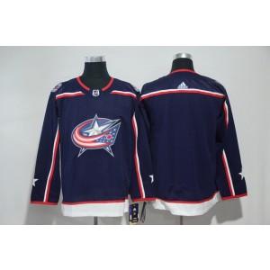 NHL Blue Jackets Blank Navy Adidas Men Jersey
