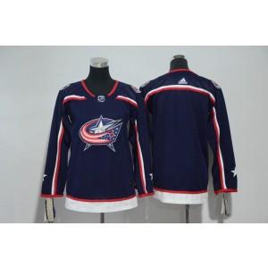 NHL Blue Jackets Blank Navy Adidas Youth Jersey