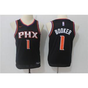 NBA Suns 1 Devin Booker Black Nike Swingman Youth Jersey