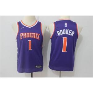 NBA Suns 1 Devin Booker Purple Nike Swingman Youth Jersey