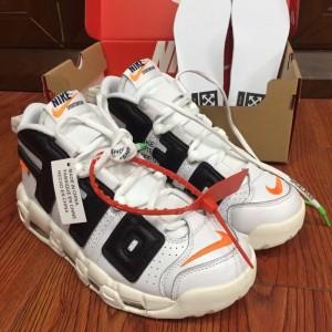 Nike Air More Uptempo The Twelve White Black Men Shoes