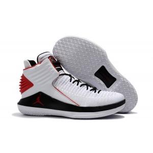Air Jordan 32 White Black Red Basketball Men Shoes