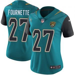 NFL Jaguars 27 Leonard Fournette Teal Vapor Untouchable Nike Limited Women Jersey