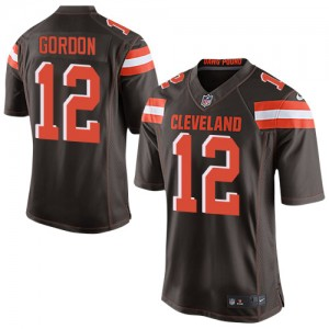 Nike Cleveland Browns No.12 Josh Gordon Brown Men's Elite Football Jersey