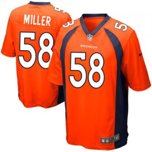 Nike Denver Broncos No.58 Von Miller Orange Game NFL Jersey