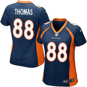 NFL Nike Broncos 88 Demaryius Thomas Blue Women Jersey