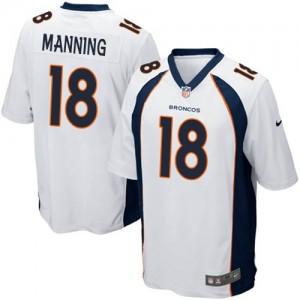 Nike Denver Broncos No.18 Peyton Manning White Game NFL Jersey