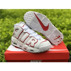 Nike Air More Uptempo Chaussures Shoes Red White