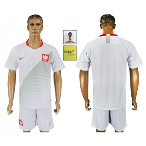 Poland Home 2018 FIFA World Cup Customized Men Jersey