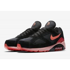Nike Air Max 180 Black/Team Orange-University Red Shoes