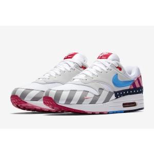 """Nike Air Max 1 """"Parra"""" White Shoes"""