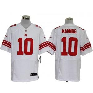 Nike New York Giants No.10 Eli Manning White Elite Men Jersey