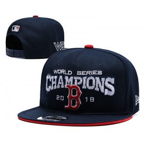 MLB Red Sox 2018 World Series Champions Navy Adjsutable Hat YD