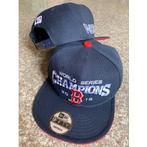 MLB Red Sox Gray 2018 World Series Champions Adjsutable Hat YD