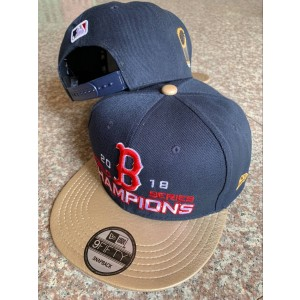MLB Red Sox Gray 2018 World Series Champions Golden Adjsutable Hat YD