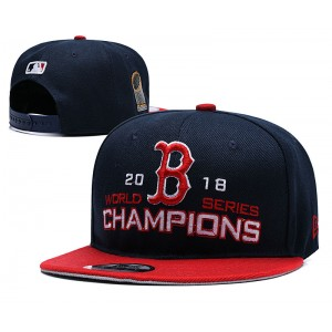 MLB Red Sox Navy 2018 World Series Champions 2 Tone Adjsutable Hat YD