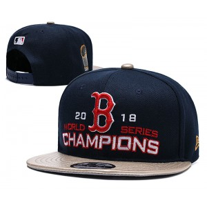 MLB Red Sox Navy 2018 World Series Champions Adjsutable Hat YD