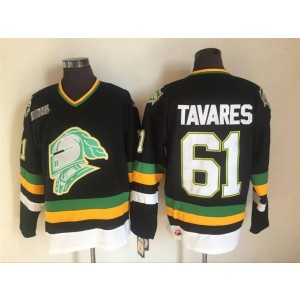 CHL London Knights 61 John Tavares Hockey Black Men Jersey