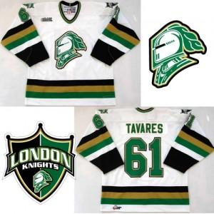 CHL London Knights 61 John Tavares Hockey White Men Jersey