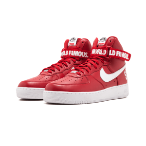 "Nike Air Force 1 High Supreme ""World Famous"" Red Shoes"