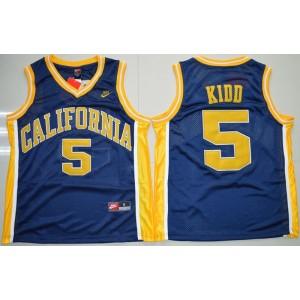 NCAA California Golden Bears 5 Jason Kidd Blue Basketball Men Jersey