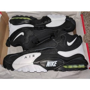 Nike Air Max Speed Turf White/Black/Voltage Yellow 49ers Shoes