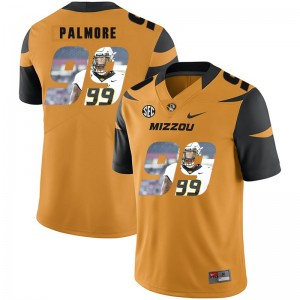 NCAA Missouri Tigers 99 Walter Palmore Gold Nike Fashion College Football Men Jersey
