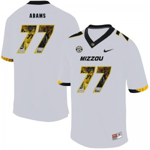 NCAA Missouri Tigers 77 Paul Adams White Nike Fashion College Football Men Jersey