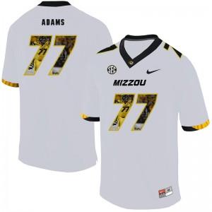 NCAA Missouri Tigers 77 Paul Adams White Nike Fashion College Football Men Jersey