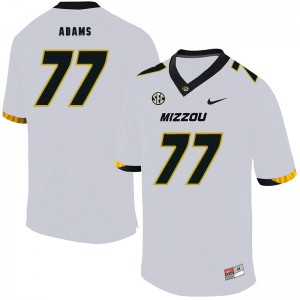 NCAA Missouri Tigers 77 Paul Adams White Nike College Football Men Jersey