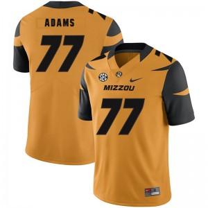 NCAA Missouri Tigers 77 Paul Adams Gold Nike College Football Men Jersey