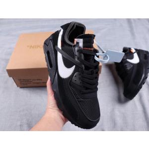 Off-White x Nike Air Max 90 Black White Shoes