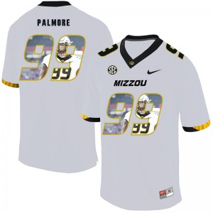 NCAA Missouri Tigers 99 Walter Palmore White Nike Fashion College Football Men Jersey