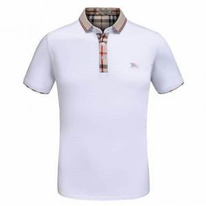 Burberry Novacheck Collar Polo White Men's Shirt