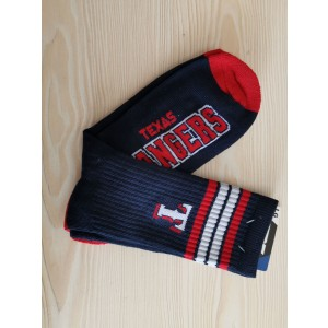 Texas Rangers Team Logo Navy MLB Socks