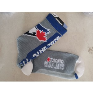 Toronto Blue Jays Team Logo Gray MLB Socks