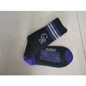Colorado Rockies Team Logo Black MLB Socks