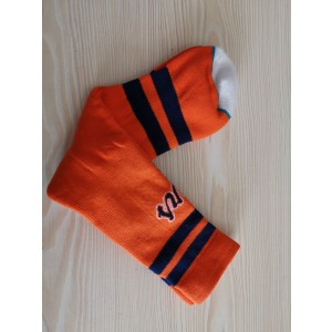Atlanta Braves Team Logo Orange MLB Socks