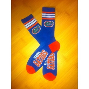 Florida Gators Team Logo Blue NCAA Socks